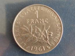 SUPERBE 1 FRANC SEMEUSE NICKEL 1961 - France