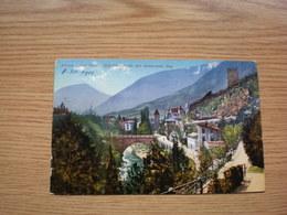 Meran Sud Tirol Gilf Promenade Mit Steinernem Steg Train Post Bahnpost Meran-Bozen 288 - Merano