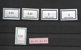 Timbres Fictifs -N° 150-151-153-157 - Phantom