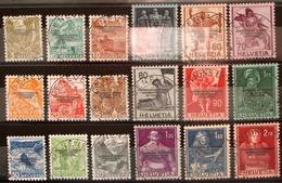"""Schweiz Suisse 1944: Dienst IV """"COURRIER DU BUREAU INTERNATIONAL DU TRAVAIL"""" BIT Zu 63-80 Mi 62-79 GENÈVE (Zu CHF 58.00) - Service"""