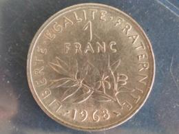 SUPERBE 1 FRANC SEMEUSE NICKEL 1968 - H. 1 Franco