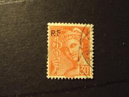 """1944- Oblitéré N° 658      """"Type MERCURE, Libération De Paris Surchargé,30c Orange  """"    Net   0.15       Photo   1 - Oblitérés"""