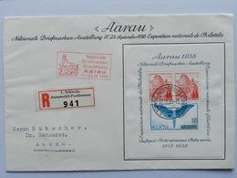1938, Aarau Block Auf FDC - Blocs & Feuillets