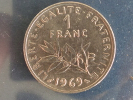 SUPERBE 1 FRANC SEMEUSE NICKEL 1969 - H. 1 Franco