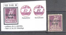 Reich  Michel #  122 * Mit PF III - Variétés