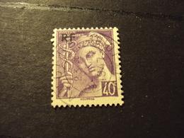 """1944- Oblitéré N°  659     """"Type MERCURE, Libération De Paris Surchargé, 40c Violet """"    Net    0.80      Photo       1 - Oblitérés"""
