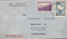 Argentina VIA CONDOR Por Primer Avion BUENOS AIRES 1938 Cover Brief HANNOVER Germany - Argentina