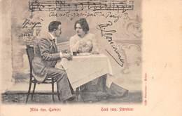 "6230""ZAZA'-ATTO IV - MILIO (TEN. GARBIN) - ZAZA' (SOP. STORCHIO)"" - CART. POST. ORIG. SPEDITA - Musik Und Musikanten"