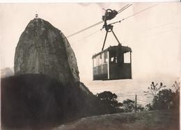 BRASIL - RIO DE JANEIRO, CAMINHO AEREO PELO PAO D'ASSUCAR. PHOTO CIRCA 1920's. PHOTOGRAPHIE PHOTOGRAPHY. - LILHU - Orte