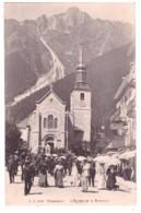 CHAMONIX - L'Eglise Et Le Brévent (carte Animée) - Chamonix-Mont-Blanc