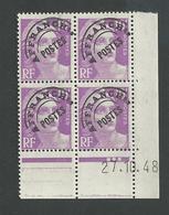 Marianne De Gandon 10 Francs N°P102 Du 27 10 1948 ** - Precancels