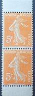 R1189/341 - 1921 - TYPE SEMEUSE - PAIRE VERTICALE DE CARNET - N°158b TIMBRES NEUFS** - Frankreich