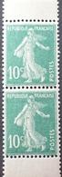 R1189/342 - 1921 - TYPE SEMEUSE - PAIRE VERTICALE DE CARNET - N°159d TIMBRES NEUFS** - Nuovi
