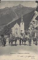 74 CHAMONIX MONT BLANC MULETIERS ET LEURS CLIENTS DEVANT EGLISE ET LE BREVENT EDITEUR CHARNAUX 5151 - Chamonix-Mont-Blanc