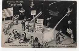 FIN DU MONDE *19 MAI 1910 *AEROPLANE * LUNETTE ASTRONOMIQUE * PIQUET * HUMOUR * CARTE OFFICIELLE * F.M. COLOGNE - Humour