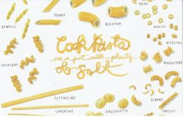 Postcard - Art - Wendy MacNaughton - Cook Pasta - New - Postcards