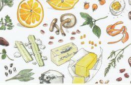 Postcard - Art - Wendy MacNaughton - Fruit And Vegtables Number 2. - New - Postcards