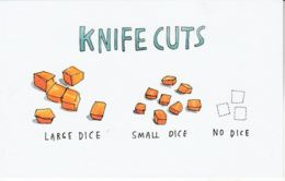 Postcard - Art - Wendy MacNaughton - Knife Cuts - New - Postcards