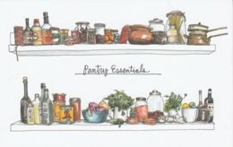 Postcard - Art - Wendy MacNaughton - Pantry Essentials - New - Postcards