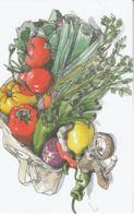 Postcard - Art - Wendy MacNaughton - Peppers Leeks And Mushrooms - New - Postcards