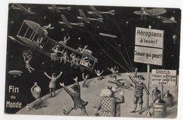 FIN DU MONDE *19 MAI 1910 *AEROPLANS A LOUER * BONBONNE * HUMOUR * CARTE OFFICIELLE * F.M. COLOGNE - Humour
