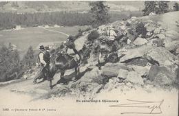 74 CHAMONIX MONT BLANC MULETIERS SUR LE CHEMIN DU MONTENVERS GLACIER MER DE GLACE EDITEUR CHARNAUX 5163 - Chamonix-Mont-Blanc