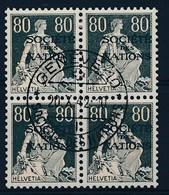 HELVETIA - Dienstmarken/Timbres De Service: S.D.N.- Mi Nr 11z (Viererblock) - Gest./obl. - Cote 26,00 € - Dienstpost