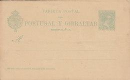Spain Postal Stationery Ganzsache Enteri 1893 Alfons XIII. Portugal Y Gibraltar (121mm) Unused (2 Scans) - Ganzsachen