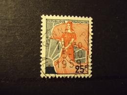 "1959 Oblitéré N°  1216   "" Type MARIANNE à La Nef, 25 F ""   Net  0.80 - 1959-60 Marianne (am Bug)"