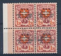 HELVETIA - Dienstmarken/Timbres De Service: B.I.T.- Mi Nr 22z (Viererblock) - Gest./obl. - Cote 21,50 € - Dienstpost