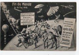 FIN DU MONDE *19 MAI 1910 * ECHELLE SAUVETAGE * BALLON DIRIGEABLE * PHOTO *  HUMOUR * CARTE OFFICIELLE * F.M. COLOGNE - Humour