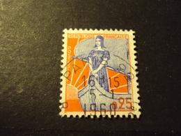 "1959 Oblitéré N°  1234   "" Type MARIANNE à La Nef, 25 F  ""   Net  0.50 - 1959-60 Marianne (am Bug)"