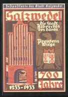 Künstler-AK Salzwedel, 700-Jahrfeier Der Stadt 1233-1933, Neuperver Tor - Salzwedel