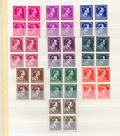 Nrs. 641/646 + 845/846 In Blokken Van 4 Postgaaf ** Zeer Mooi 110 Côte - 1936-1957 Open Collar