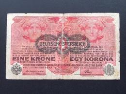 AUSTRIA P49 1 KRONEN 1919 VG - Austria