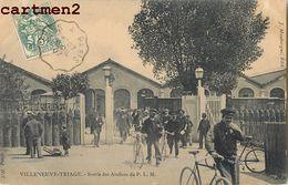 VILLENEUVE-TRIAGE _ SORTIE DES ATELIERS DU P.L.M. 94 - Unclassified