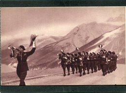 CPA - Fanfare De Chasseurs Alpins, Très Animé - Regiments
