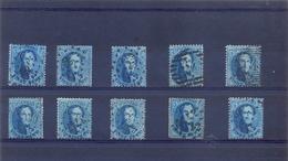 10 X Medaillon 20ct Blauw Gestempeld - 1863-1864 Médaillons (13/16)
