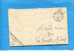 MARCOPHILIE- Guerre -INDOCHINE--Lettre- Départ -cad Poste Aux Armées 1953+ T O E- SP 56185-Pour Françe - Marcophilie (Lettres)