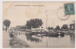 62  EVIN MALMAISON -  Pont Tournant Peniche  - CPA  N/B  9x14 BE - France