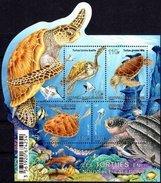 NEW CALEDONIA 2015 Turtles Turtle Reptiles Fish Fishes Corals Marine Life Animals Fauna MNH - Nueva Caledonia
