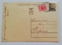 Cartolina Postale Adria-Papozze, 30/12/1944 (uso Nel Distretto) - 4. 1944-45 Repubblica Sociale