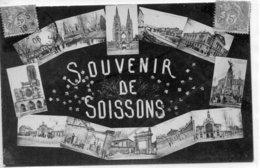 SOISSONS SOUVENIR    CARTE FANTAISIE - Soissons