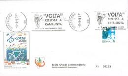 34958. Carta BARCELONA 1993. Rodillo Especial 73 Volta Ciclista Catalunya. Ciclismo - 1931-Hoy: 2ª República - ... Juan Carlos I
