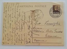 Cartolina Postale Per Sanna - 09/09/1944 (senza Francobolli Aggiunti) - 4. 1944-45 Repubblica Sociale