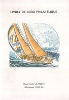 Livret De Bord Philatelique Avec 9 Cachets - Bateaux