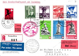 Vols Postaux Spéciaux 9 Mai 1940 Croix-Rouge - Poste Aérienne