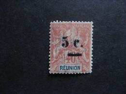 REUNION :TB N° 52, Neuf X . Faux Fournier. - Réunion (1852-1975)