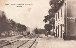 70 Fontaine Les Luxeuil La Gare Avec Train Locomotive à Vapeur - France