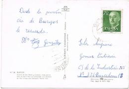 34963. Postal GUMIEL De IZAN (Burgos) 1965. Vista Puente San Pablo Y Catedral - 1931-Hoy: 2ª República - ... Juan Carlos I